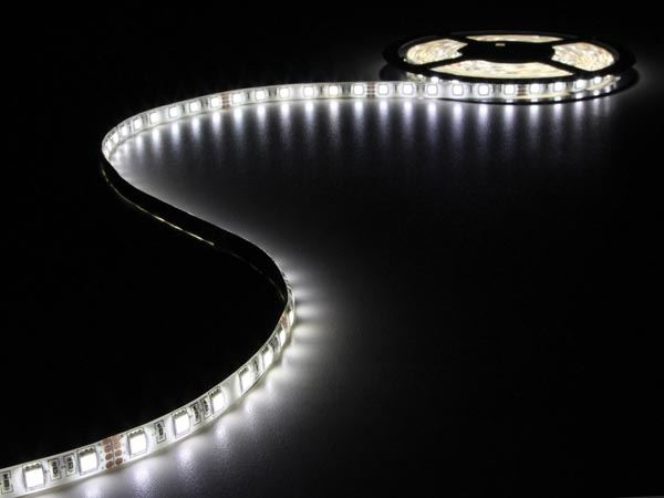 CINTA CON LEDs FLEXIBLE - COLOR BLANCO NEUTRO - 300 LEDs - 5m - 24V - Imagen 1