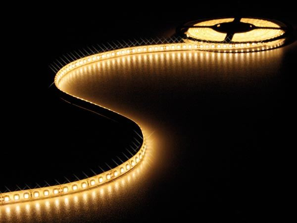 CINTA DE LEDs FLEXIBLE - COLOR BLANCO CÁLIDO - 600 LEDs - 5m - 24V - Imagen 1