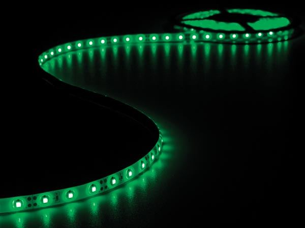 CINTA DE LEDs FLEXIBLE - COLOR VERDE - 300 LEDs - 5m - 12V - Imagen 1