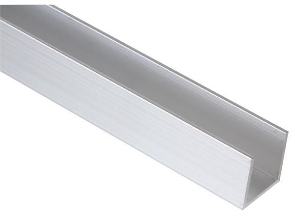 Perfil de aluminio para cintas de leds en forma de 39 u 39 2m - Perfil aluminio u ...